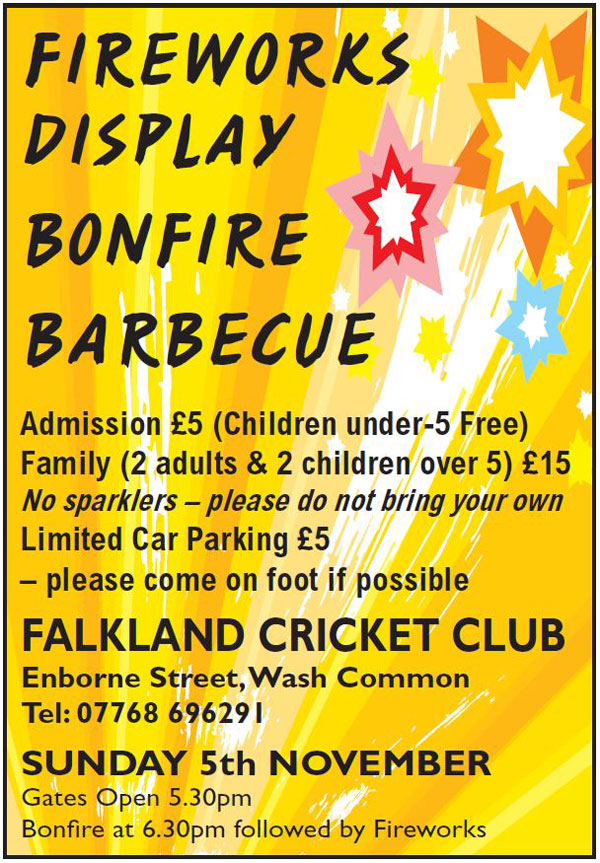Fireworks at the Falkland Cricket Club