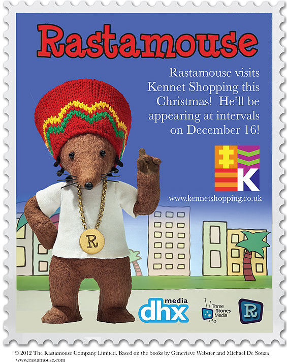Rastamouse at Kennet Shopping