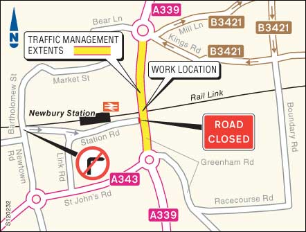 Closure of Station Road in Newbury