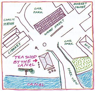 Map  for the Teashop by the Canal